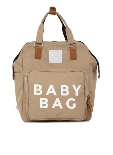 Bagmori Baby Bag Baskılı Cepli Anne Bebek Bakım Sırt Çantası M000005163 Vizon